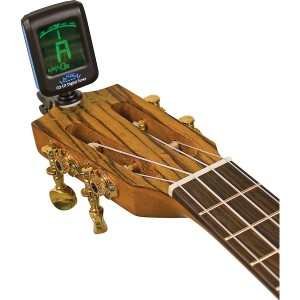 Baritone Ukulele tuning using a Lanikai CO-UT Clip-on Ukulele Electronic Tuner
